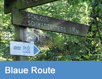 Nordic-Walking-Route Blau