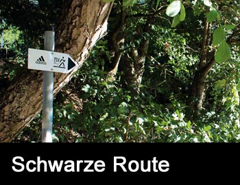 Nordic-Walking-Route Schwarz